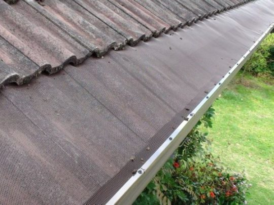 aluminium gutter guard tile roof